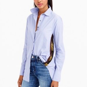 J. Crew side stripe sequin blouse 8